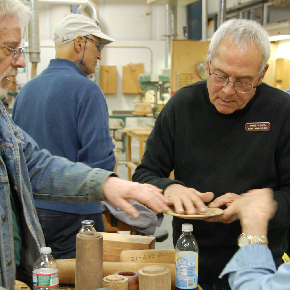 Jim Ruocco and friends check out Bryan Richardson's coring sample.