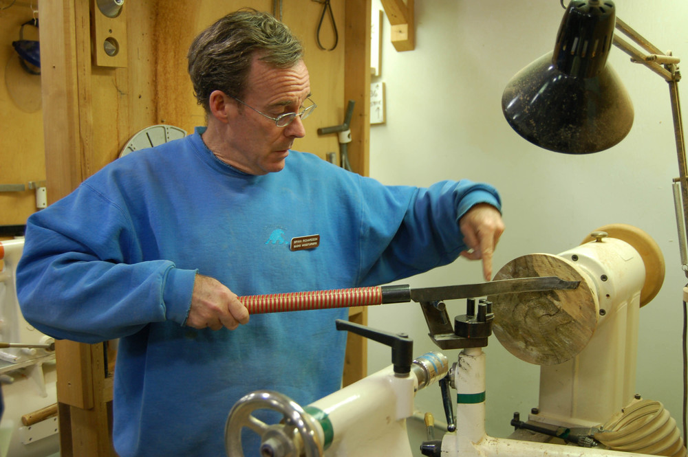 Here's where the action is and how his McNaughton-style coring tool works.