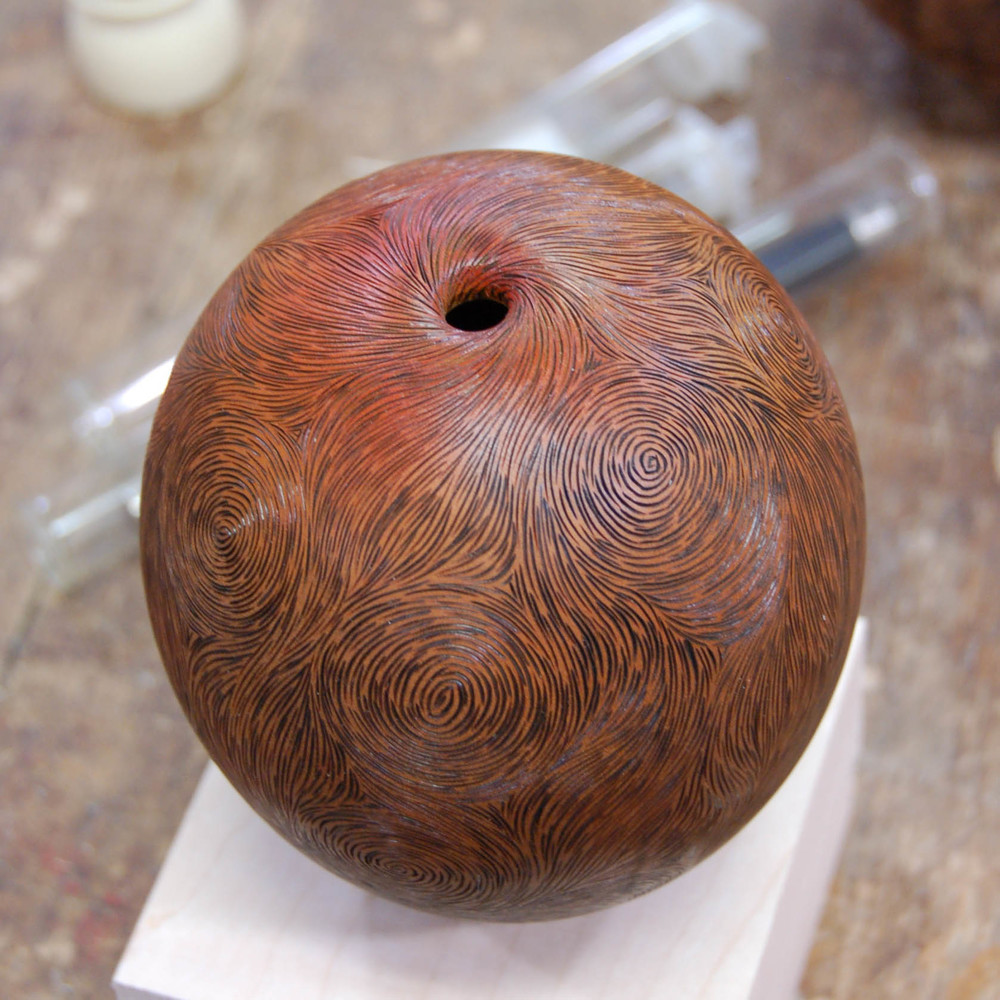 If you were there, John shared his secrets of how he hollowed this vessel, as well as how he created his signature look.