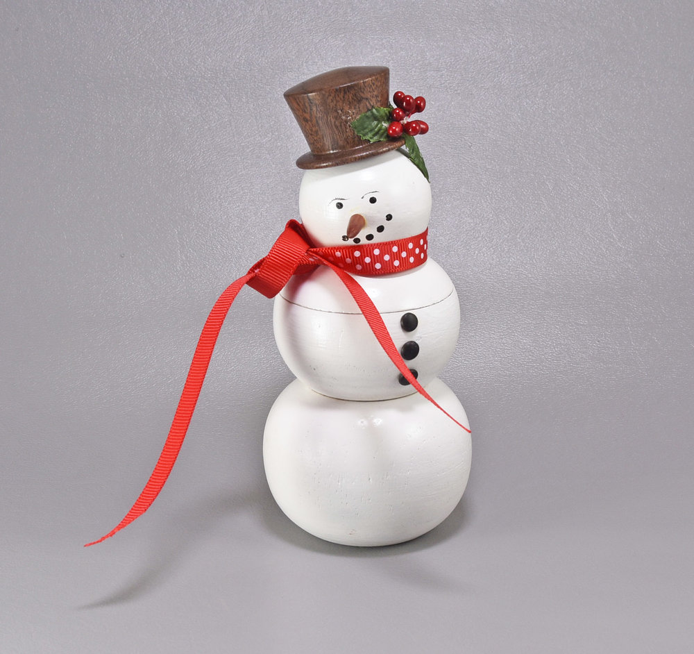 Jim Beckwith's Lidded Snowman Hollow-Form