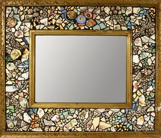 Multicolored Mirror Black Grout 23x26  $950