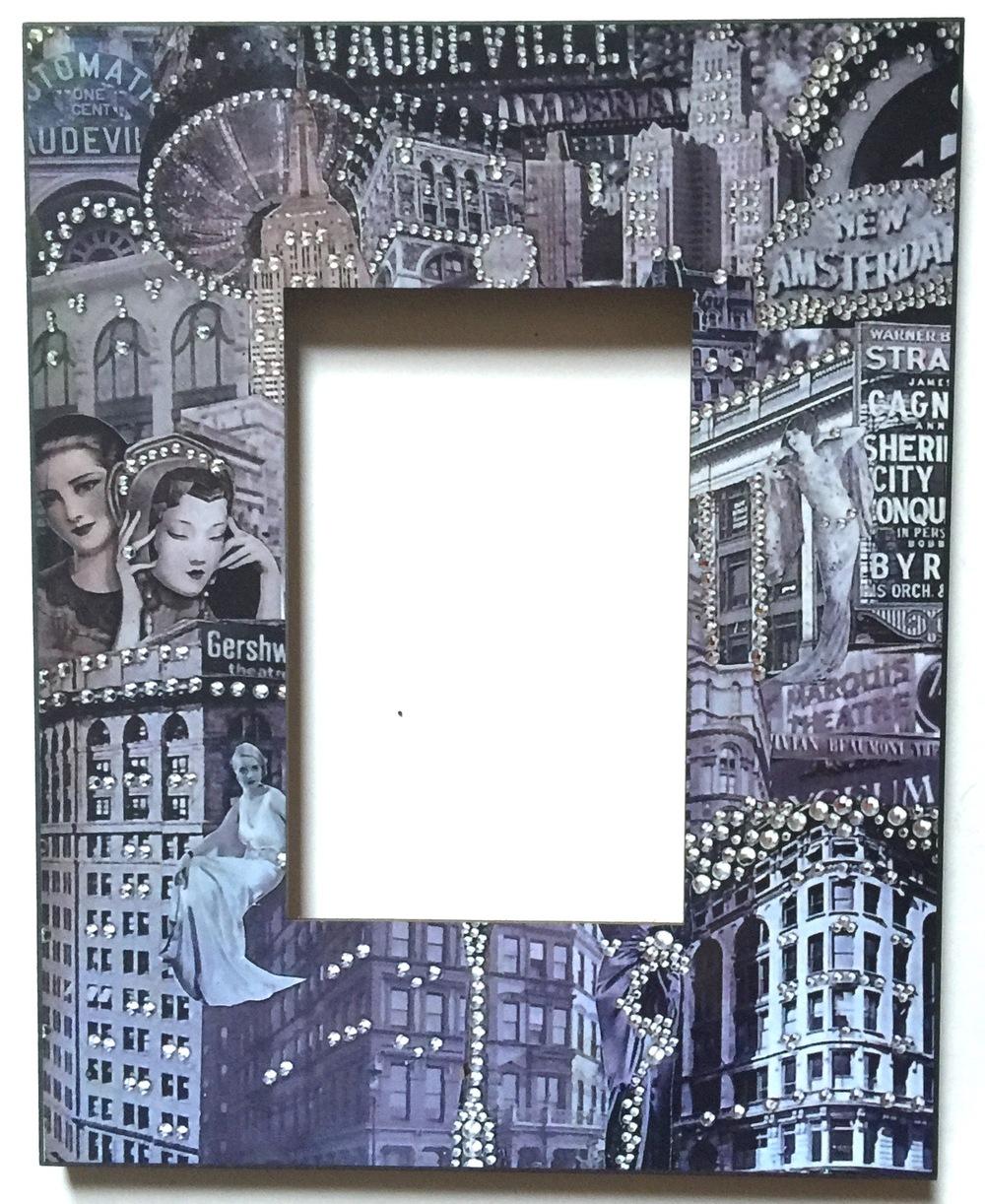 Vaudeville Printed Frame 4x6 $65