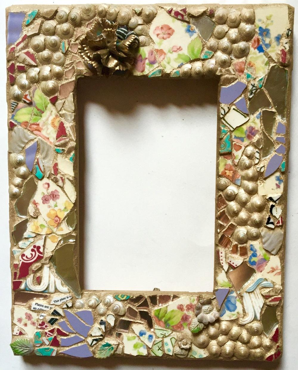 Mosaic Frame 4x6 $65
