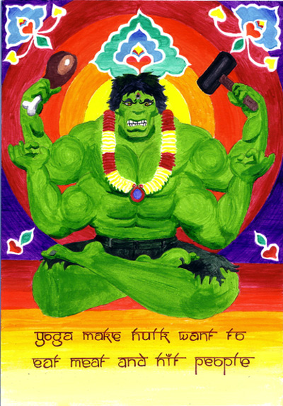 HULK DO YOGA