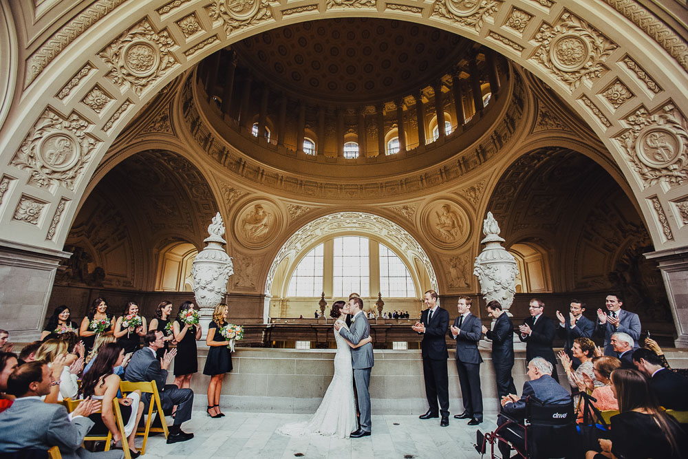 Fourth floor gallery wedding in city hall