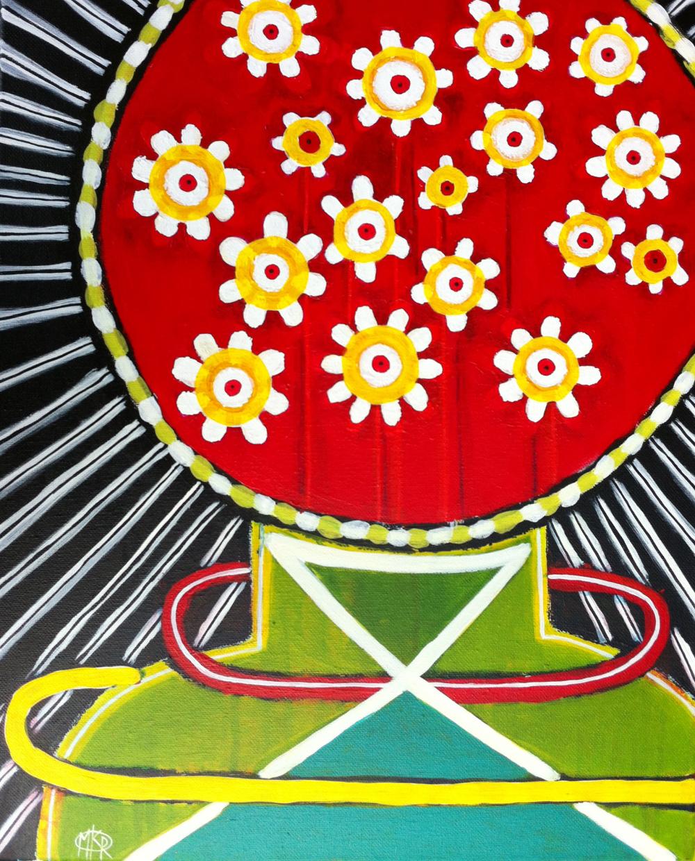 """""""Vase of Daisies"""" 16""""X20"""" $200"""