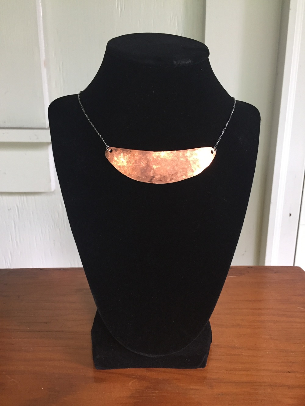 Copper Shield Necklace - $40