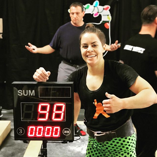 @taritasaurusrex in great shape after her 98 reps of long cycle with the two purple 20kg bells at Deck The Bells with KOR. Thank you for the AWESOME event! All polka dots...All day! up next #caliopen #kettlebellsport #orangekettlebellclub #deckthebells2017 #worldrecord #nazofoto #okcnorth @wheresdabeefy @__ver @dolbystyle @denisvasilevkbsport @kettleboo @kettlebelllifestyle @stefanieobregozo @adagirl41 @musclehipster @mykorstrength @kbfitbritt