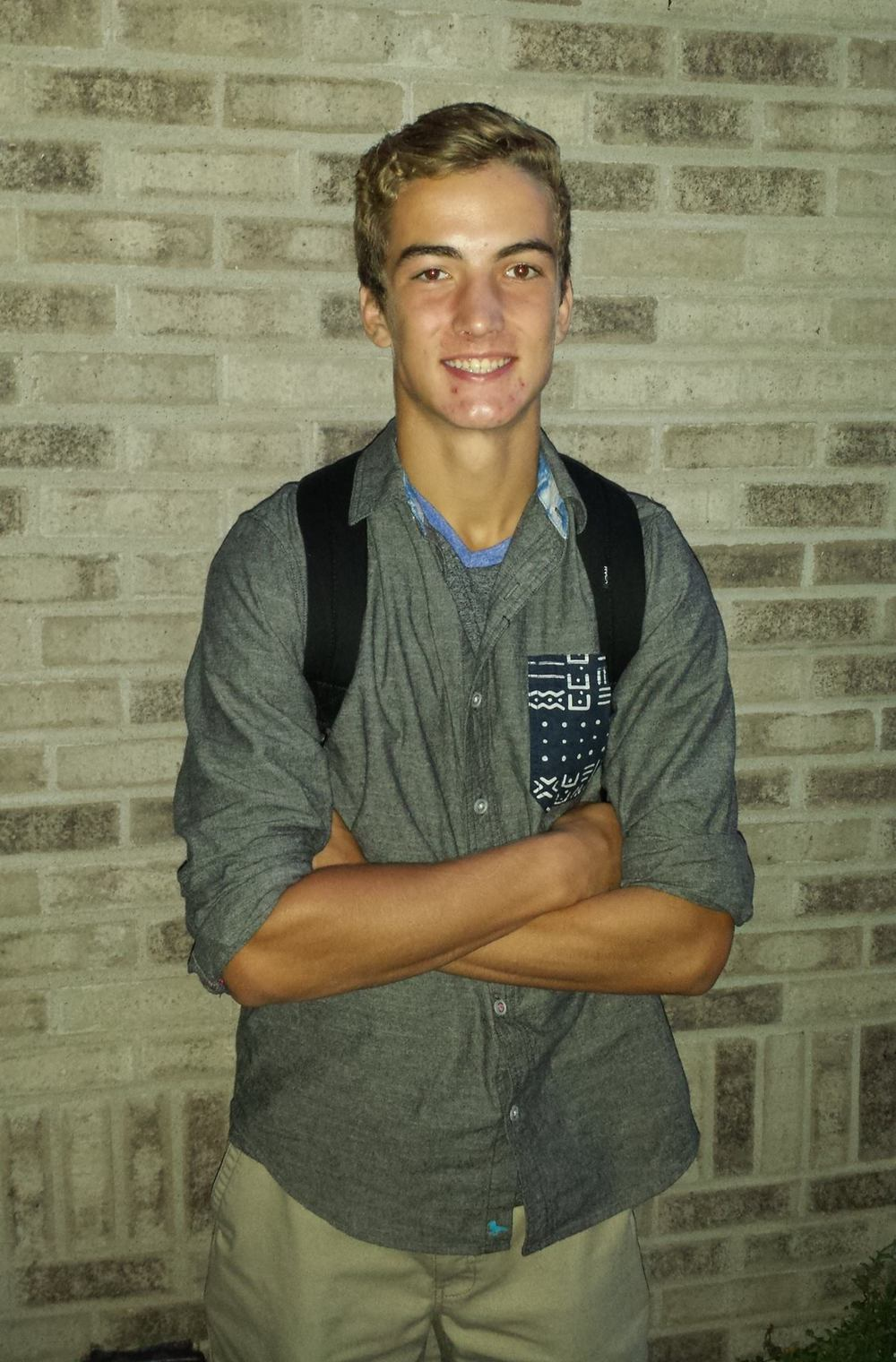 Dylan on his first day of High School - what a stud!