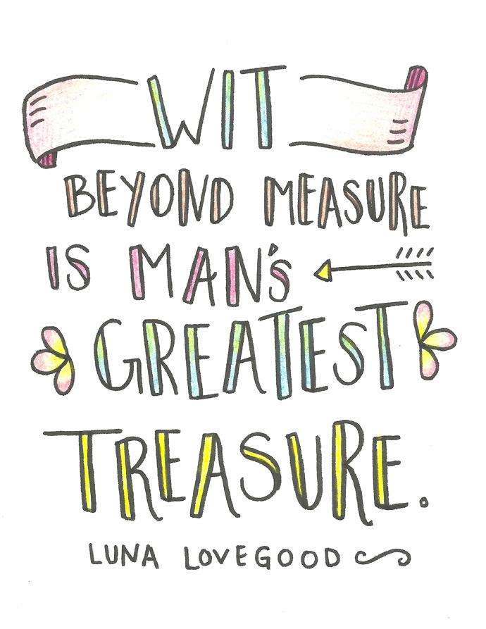 Luna Lovegood Coloring Card