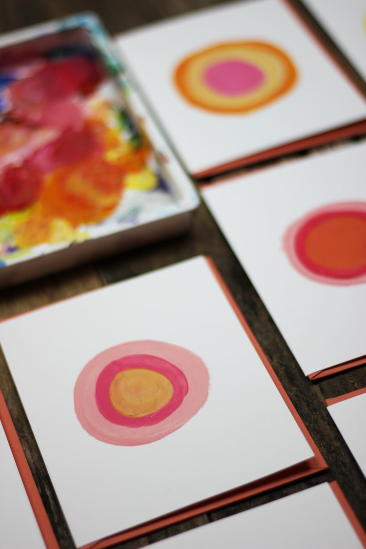 Peach Circle Note Cards from Madison Beaulieu