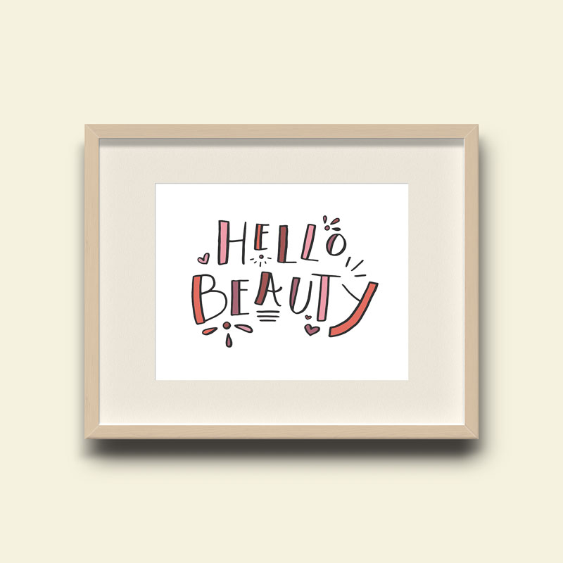 Hello Beauty Art Print for Nursery