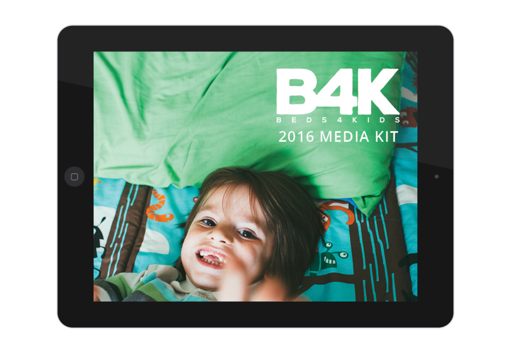 Beds4Kids Media Kit Design