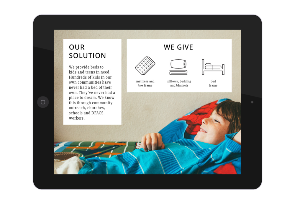 Beds4Kids Media Kit Solution Page