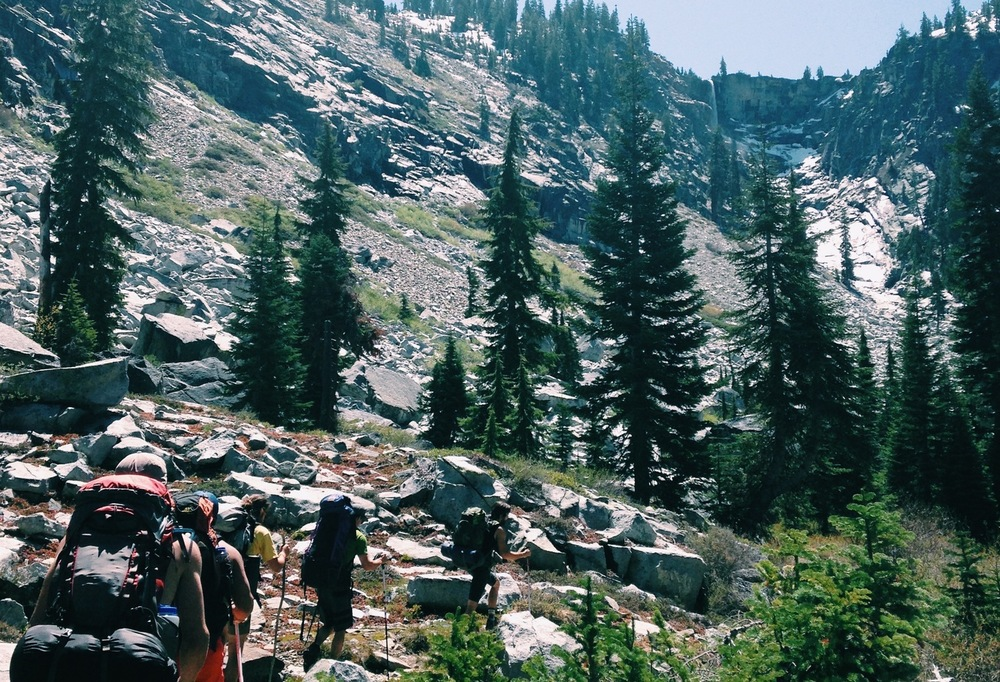 Backpacking in the Trinity Alps Wilderness // Grizzly Falls