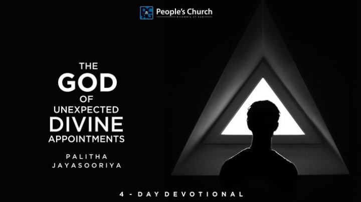 This 4-day reading plan shows how God can bless us with 'Unexpected Divine Appointments' when we are confronted by unexpected challenges. God works in unexpected ways to bring about 'Divine Appointments' for His children.