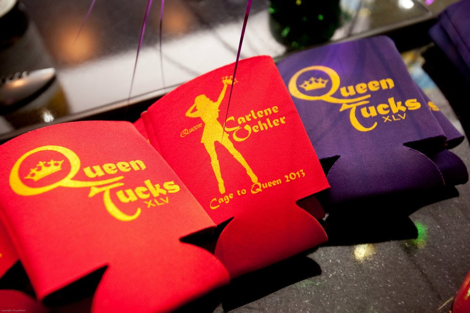 Queen Tucks koozies