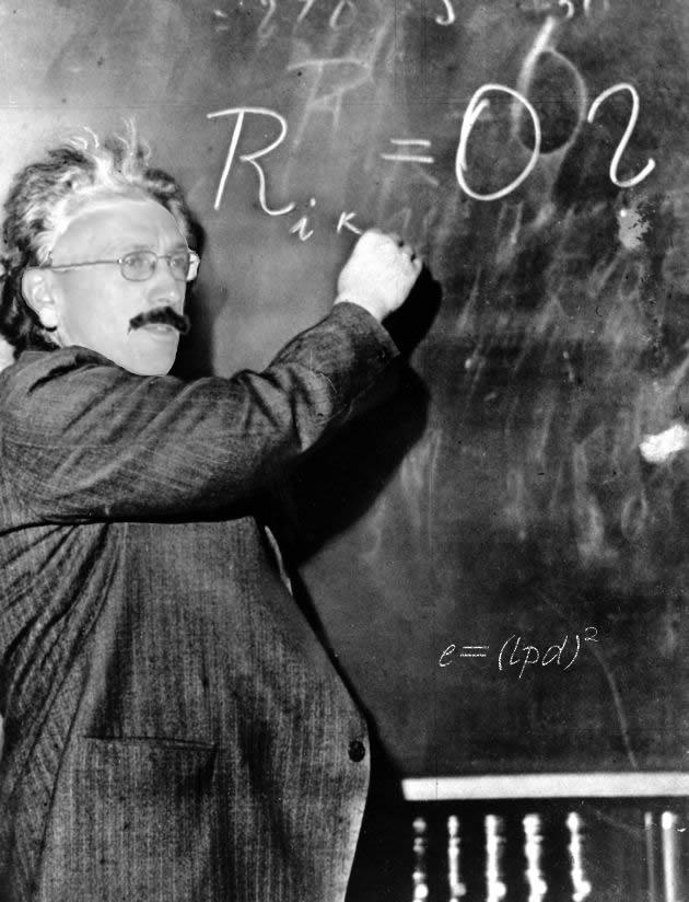 Visage merged with Einstein for gag gift