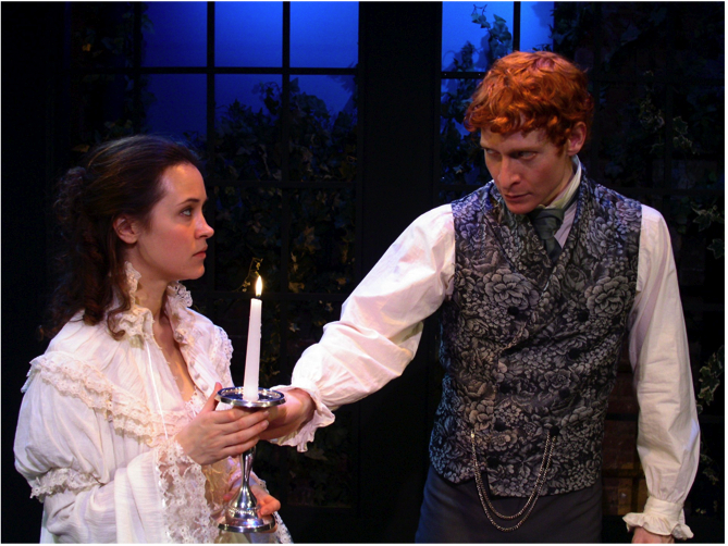 Christine Albright and Adam Devine as Thomasina Coverly and Septimus Hodge