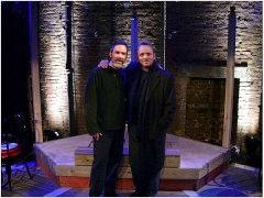 Gerry and Dennis Lehane on the set of Coronado, opening night