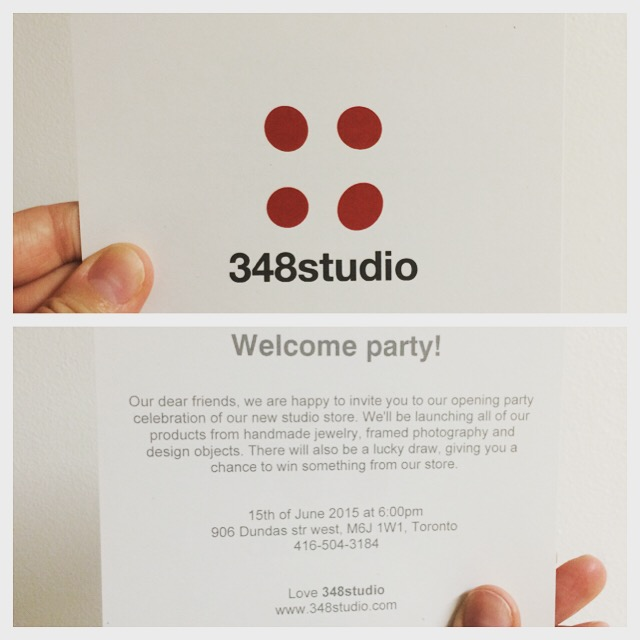 our welcome party invitation 348studio