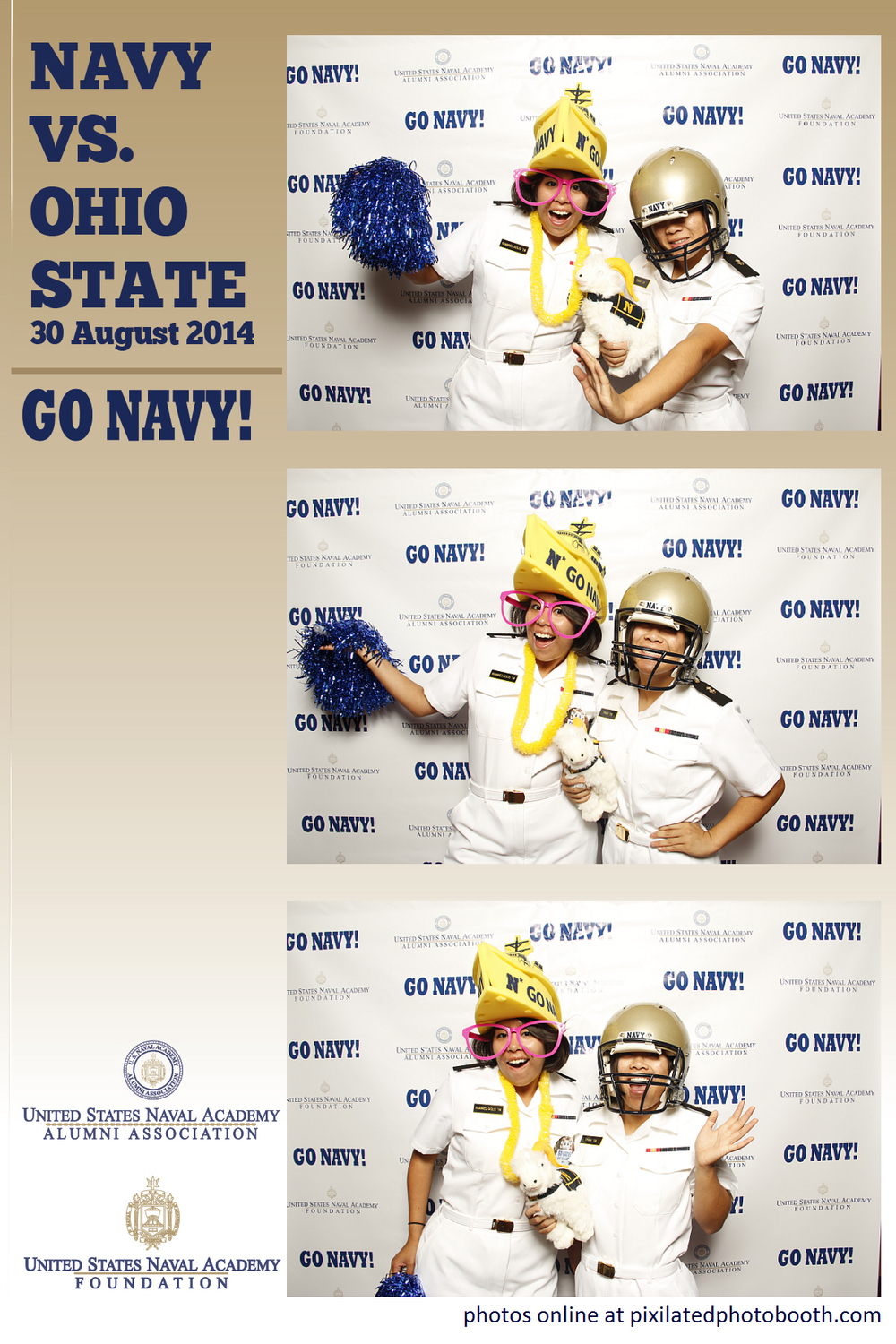 Navy Photo Booth Football