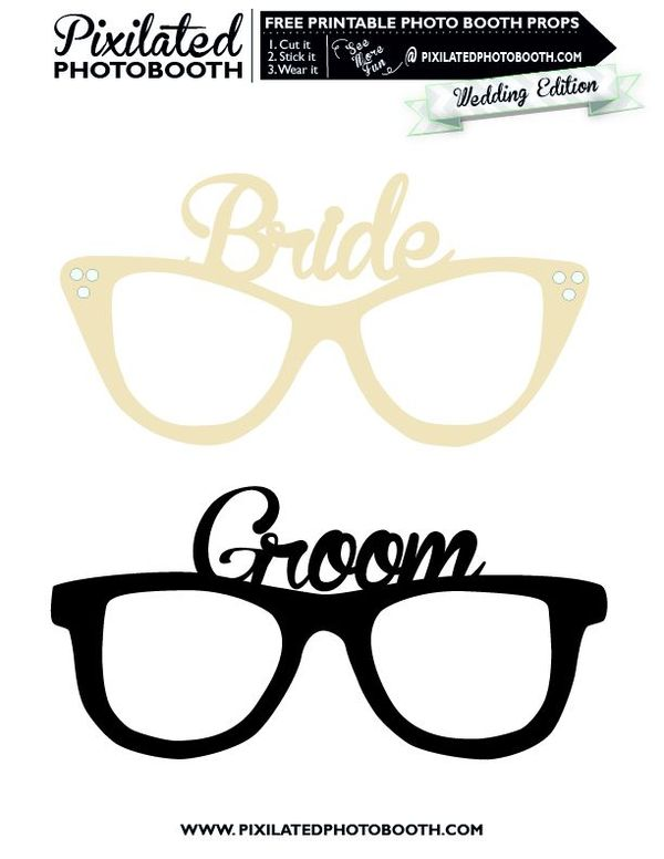 Printable Wedding Photo Booth Props | D.I.Y. Photo Booth