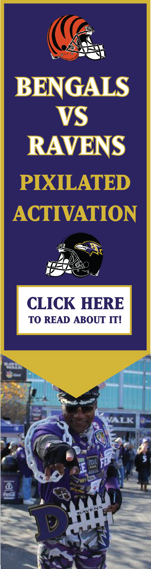 Bengals vs Ravens Sporting Event Activation