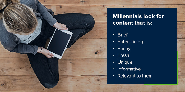 Millennials content attribute list.