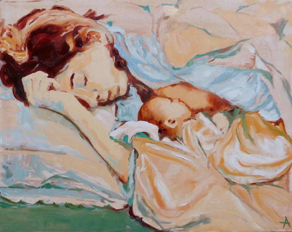 """SOLD Morning Light, Copyright 2013 Hirschten, Oil on Canvas 16"""" x 20"""""""