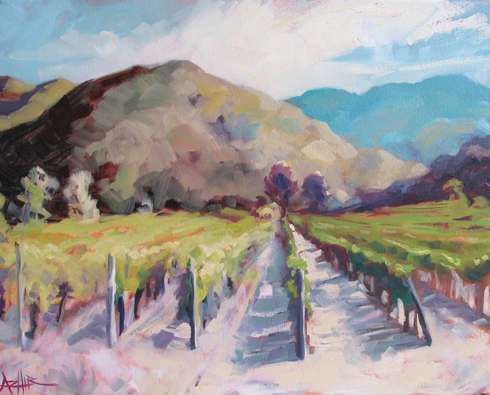 """SOLD, View in Tuscany, Copyright 2016 Hirschten, Oil on Canvas, 16"""" x 20"""""""