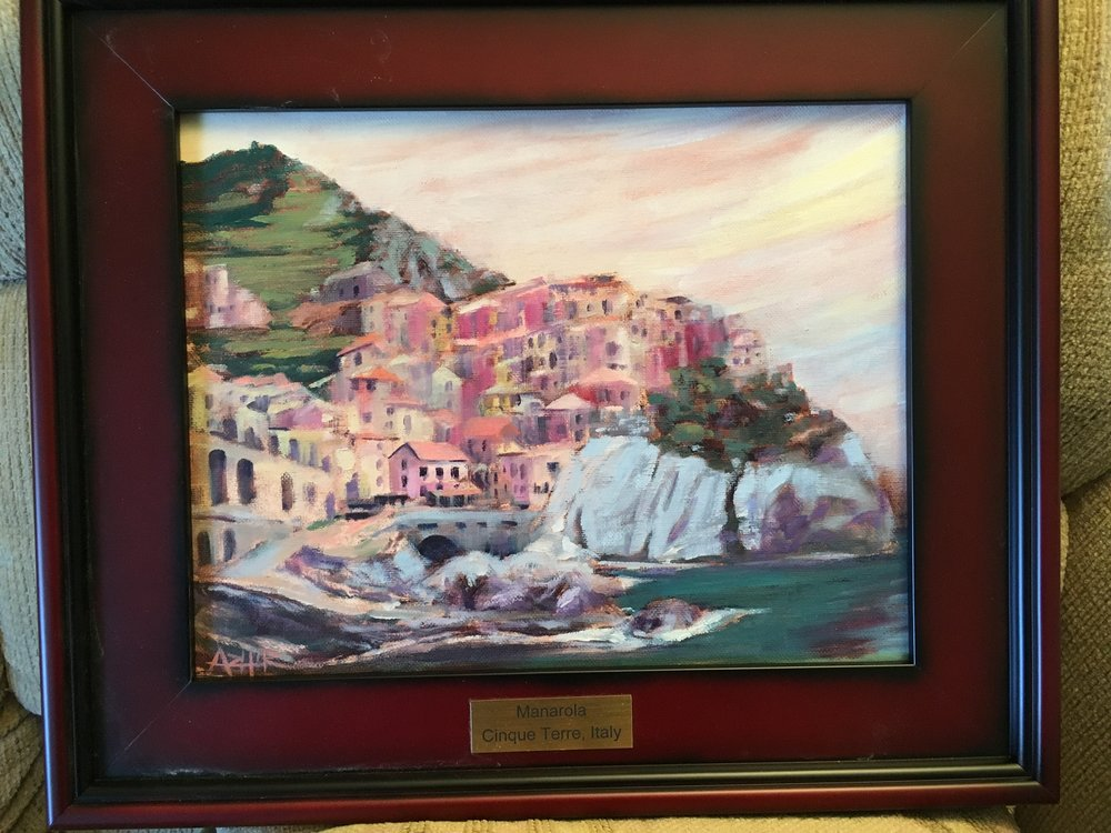 "SOLD, Scene from Italy Commission, Copyright 2016, Oil on Canvas, 11"" x 14"""