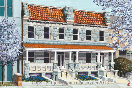 Painting of  The George Condominium:  1343-1345 Pennsylvania Avenue SE