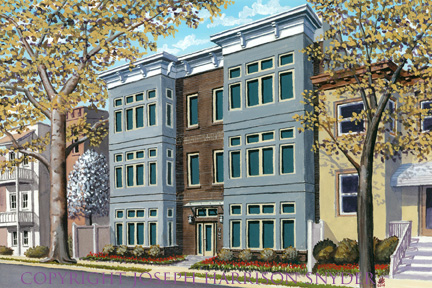Painting of The North Star Condominium: 762 Park Road NW
