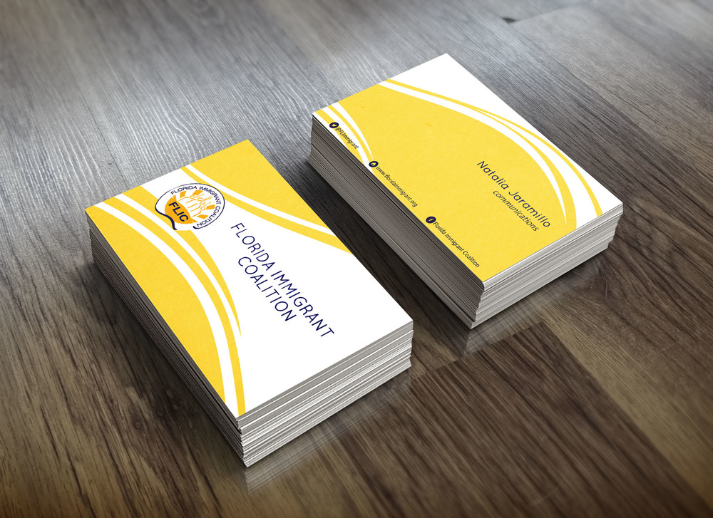 Client: Florida Immigrant Coalition  Type: Business Cards