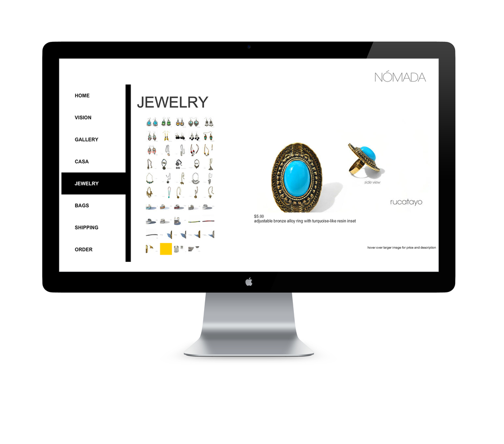 Client: NOMADA Jewelry and Crafts  Type: Website
