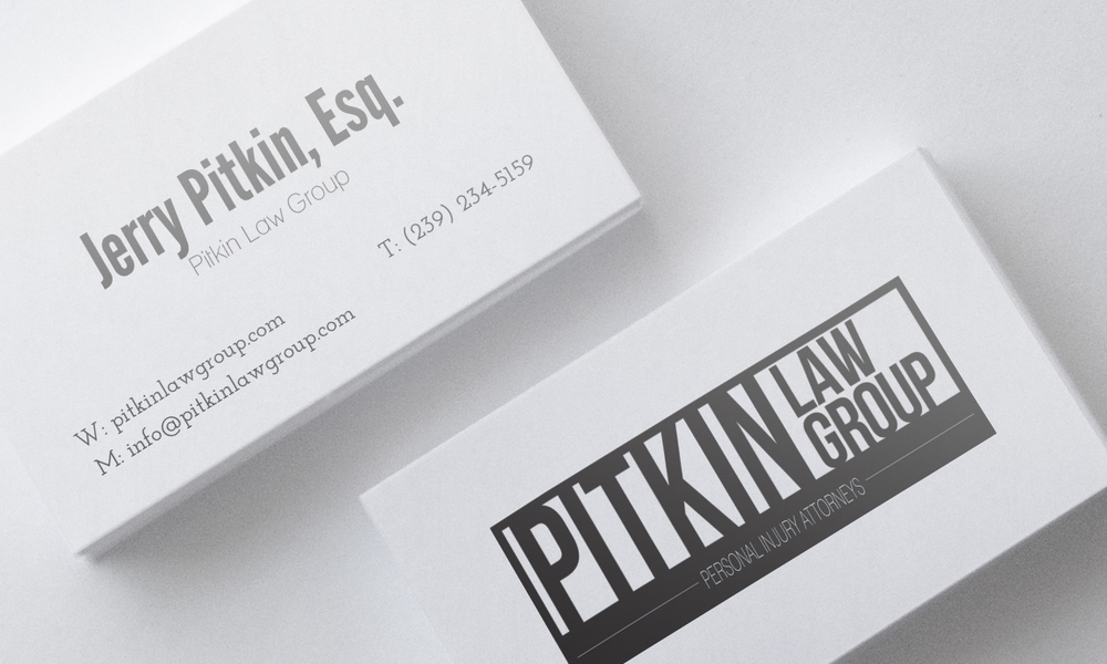 Client: Ptikin Law Group  Type: Business Card