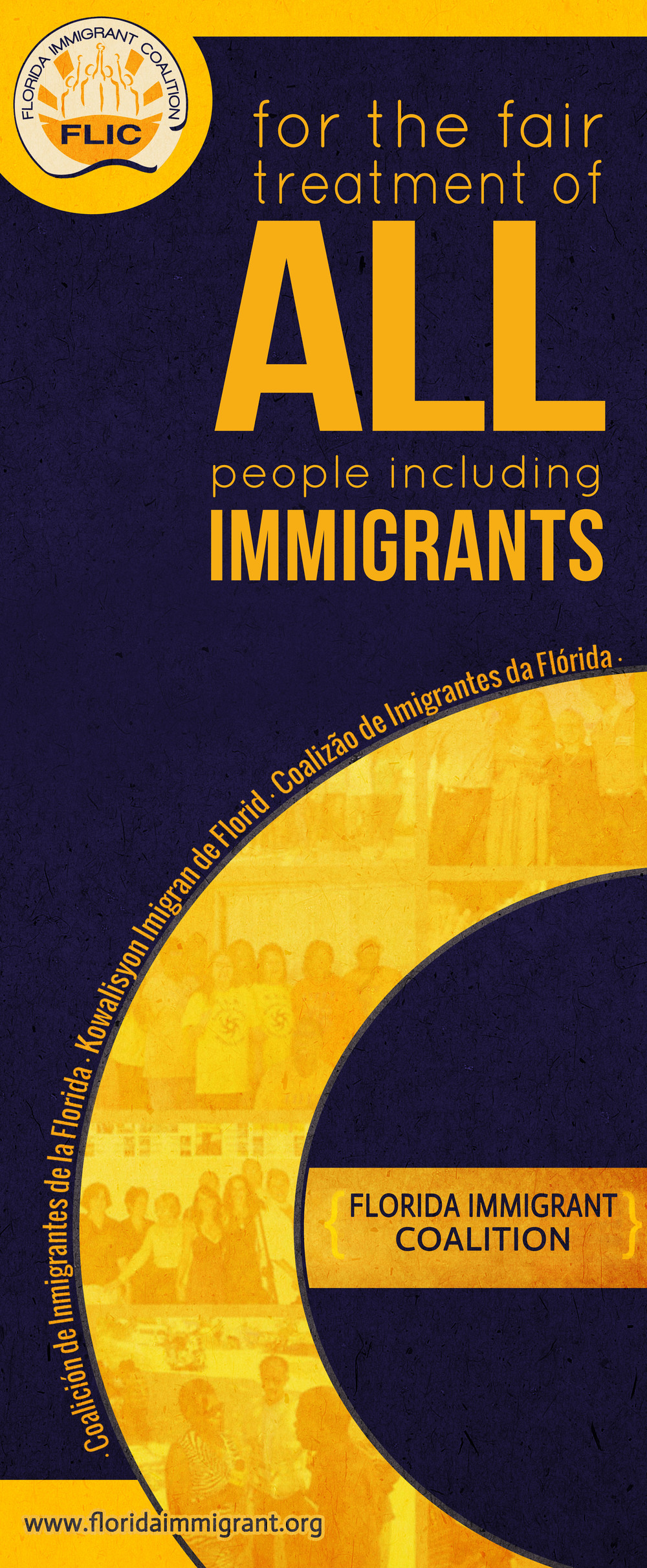 Client: Florida Immigrant Coalition  Type: Vinyl Banner