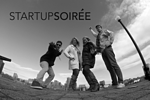 The Startup Soiree Team: Nic China, Jes Gignac, Rachel Robinson & Patrick Rife (left to right)