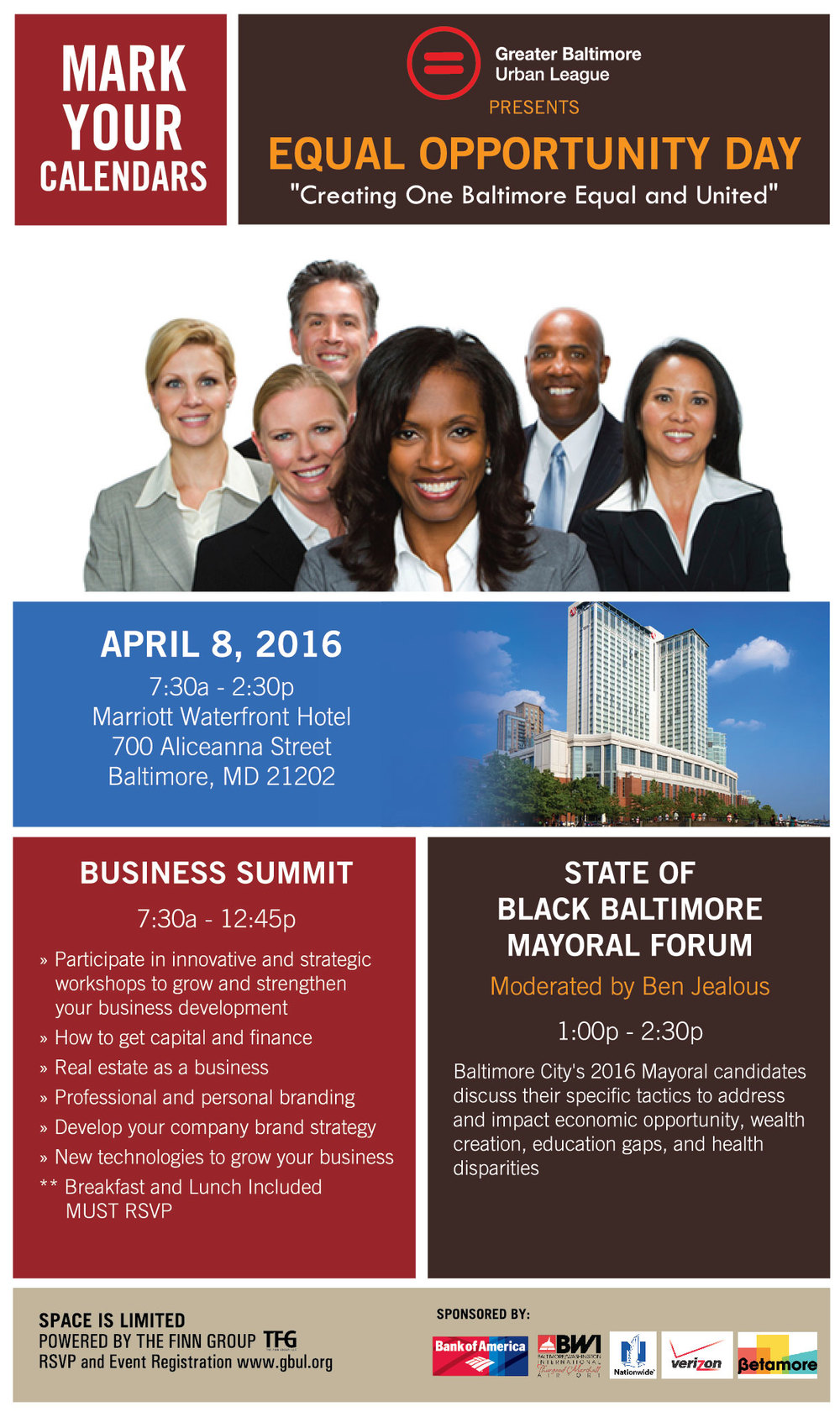 Greater Baltimore Urban League Equal Opportunity Day 2016