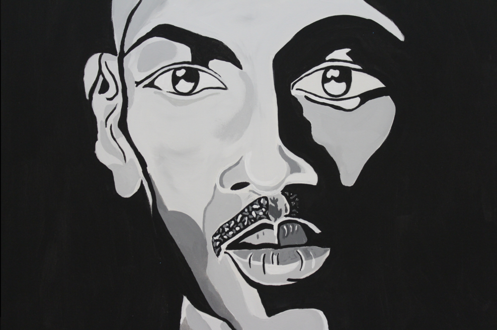 "Artwork by Jerrell Gibbs, ""Jordan"""