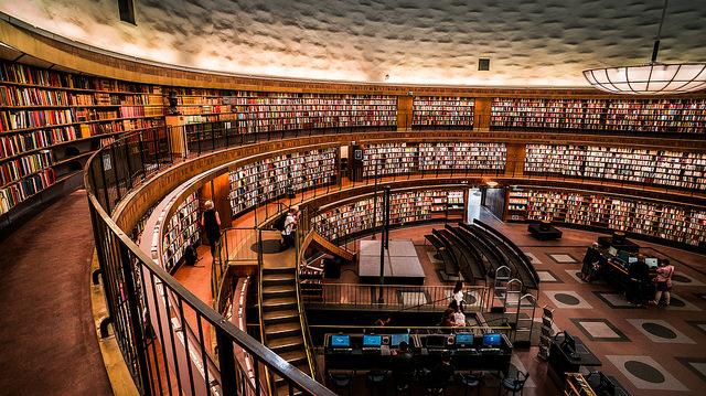 Stokholm Public Library, chibicode, Flikr.com