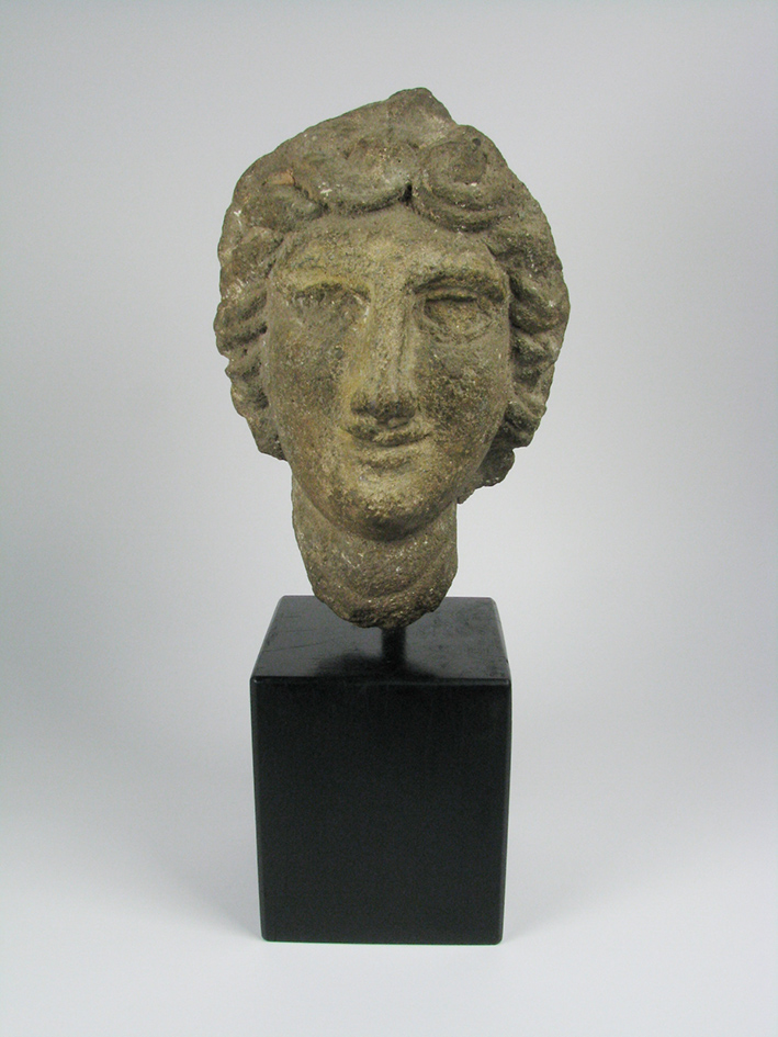 A Roman Basalt Sculpture of Minerva, c.1st Century AD, 43cm $4,500