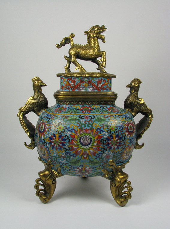 A Ming Dynasty Cloisonné Censer, Xuande period c.1426-1435 AD, 42x34cm $5,000