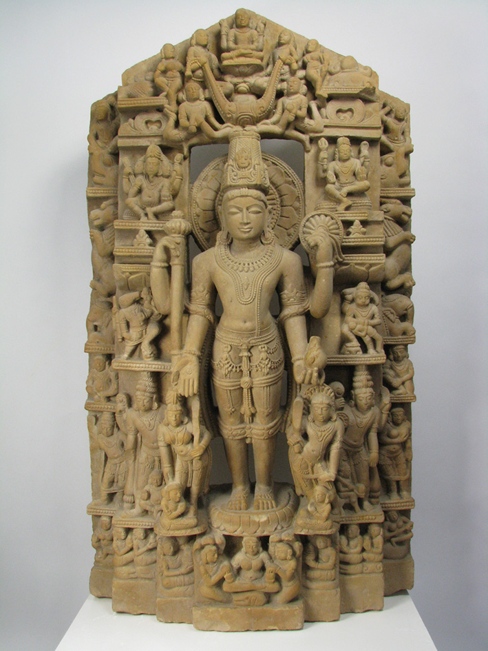 An India Sandstone Stele of Vishnu, c.11-12th Century AD, Uttar Pradesh, 105x60cm $23,600