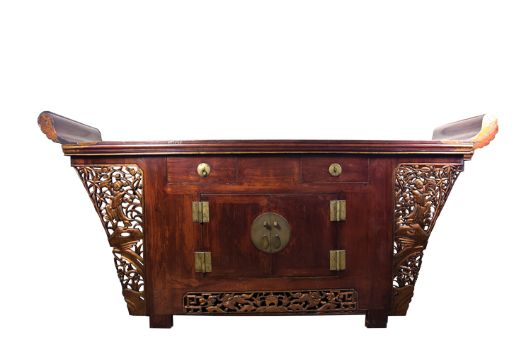A Chinese Gilt and Lacquered Beijing Altar Table Coffer,  c. 1860-1880