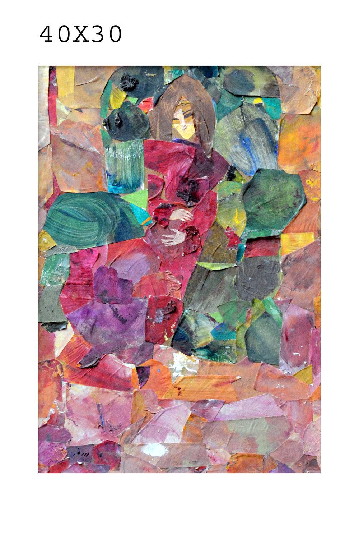 Lot 44 Bana Safar - collage 40x30cm - الفنانة بانه سفر