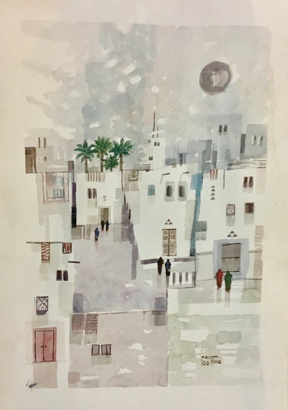 Lot 213: Sameer Al-Daham - الفنان سمير الدهام (Saudi) 1955 -