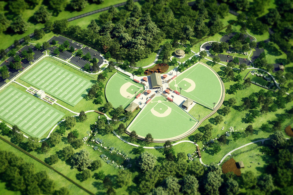 Concept Rendering of Patriots Park