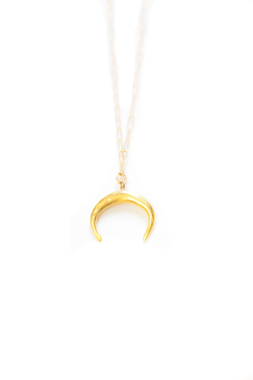necklace necklaces rose image crescent female moon gold vermeil influence